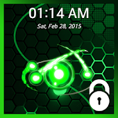 Live Orbit Pattern Lock Screen