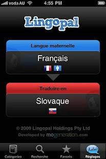 Lingopal Slovak Lite - screenshot thumbnail