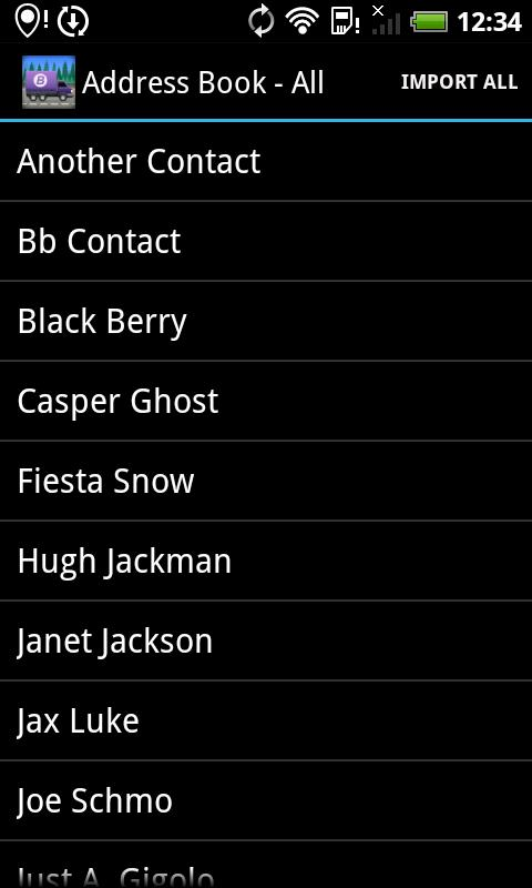 BerryMover - BlackBerry data - screenshot