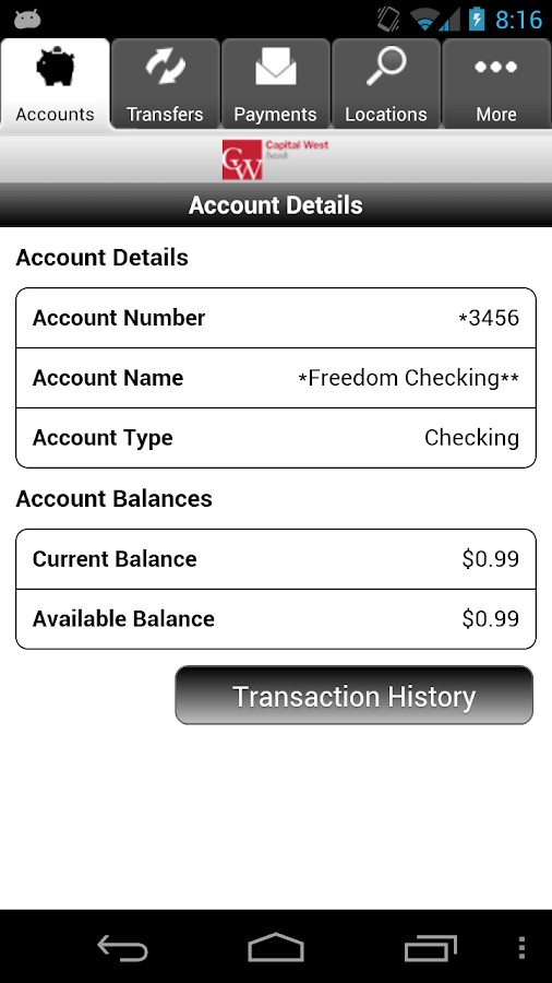 CWB Mobile Banking- screenshot
