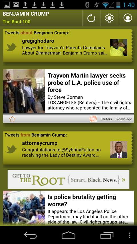 Benjamin Crump: The Root 100 - screenshot