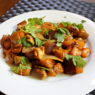 Chicken And Eggplant in Black Bean Sauce