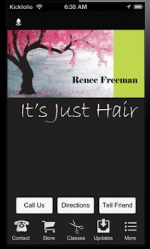 【免費商業App】Its Just Hair : Renee Freeman-APP點子