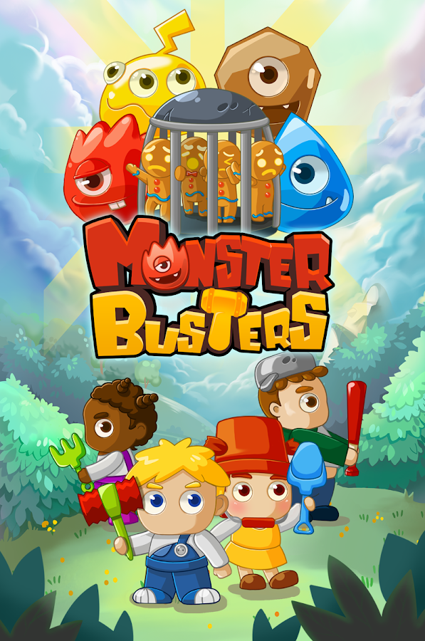 MonsterBusters: Match 3 Puzzle- screenshot
