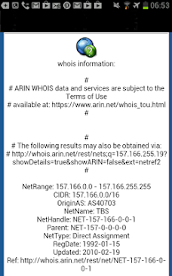 DNS Lookup and Whois - screenshot thumbnail