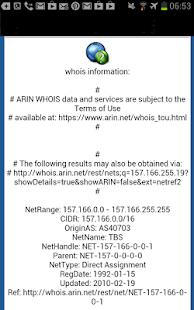 DNS Lookup and Whois - screenshot thumbnail