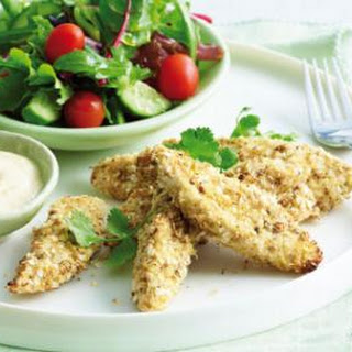 Crumbed Chicken With Quinoa And Dukkah