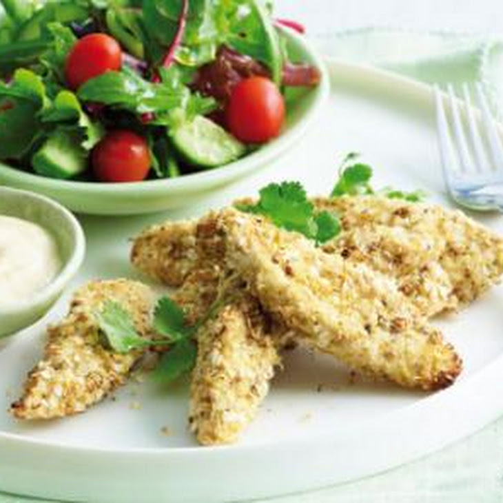 Crumbed Chicken with Quinoa and Dukkah Recipe