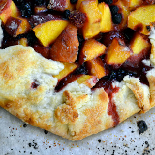 Peach, Strawberry & Blueberry Galette