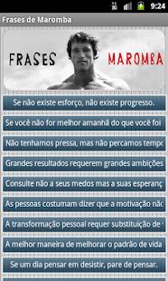 Frases de Maromba - Academia