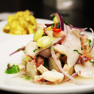 Mixed Seafood Ceviche.