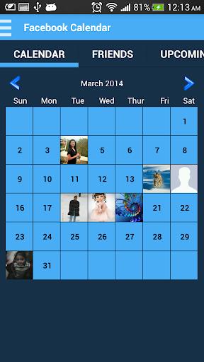Calendar For Facebook Birthday