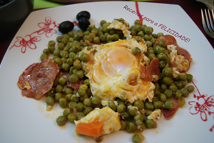 Poached Eggs with Peas Recipe