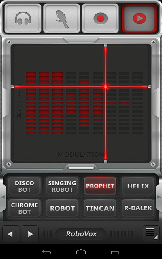 RoboVox Voice Changer Pro - screenshot