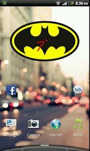Batman Clock Widget