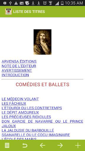 Molière : Oeuvres
