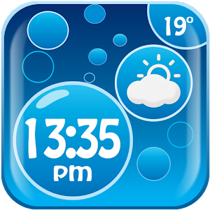 Burbujas tiempo reloj widget Gratis