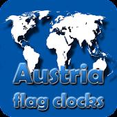 Austria flag clocks