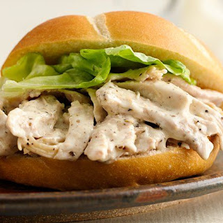 Slow-Cooker Chicken Caesar Sandwiches Recipe