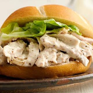 Slow-Cooker Chicken Caesar Sandwiches.