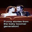funny baby boomer stories logo