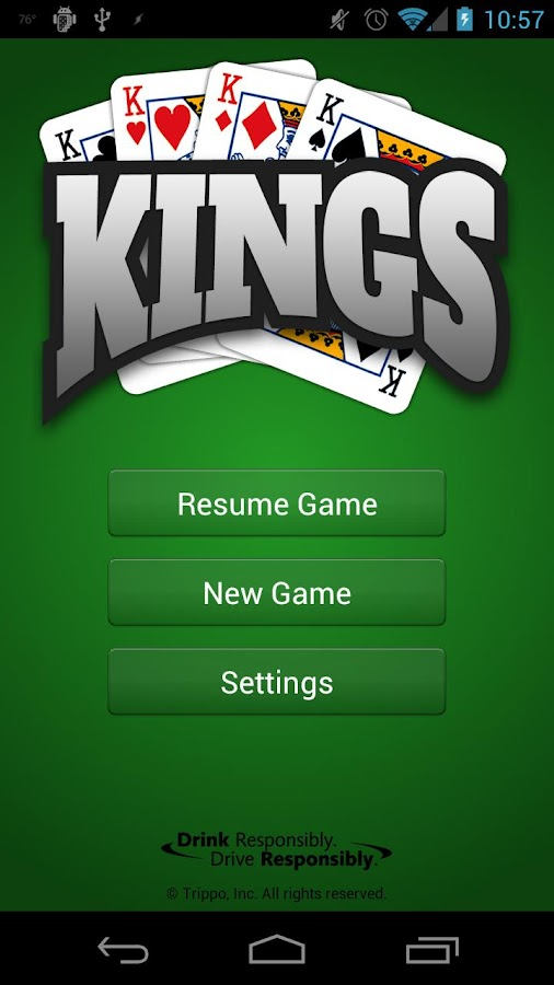 Kings (Drinking Game) - screenshot