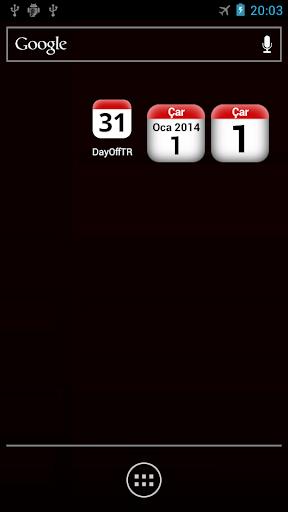 TR holidays calendar widget