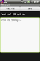 Screenshot of IP Messenger