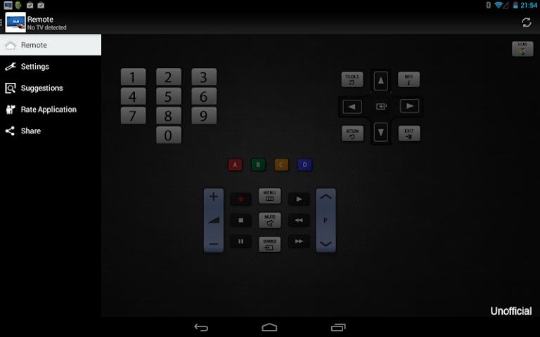 android Télécommande pour TV Samsung Screenshot 1