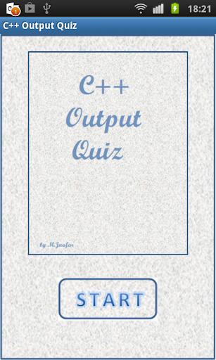 C++ Output quiz