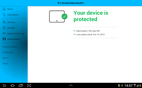 F-Secure Mobile Security - screenshot thumbnail