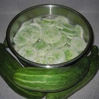 Creamed Cucumber Slices Recipe