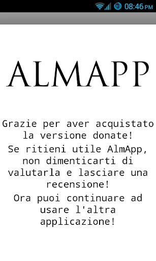 AlmApp Versione Donate