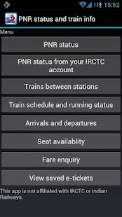 PNR status and train info- screenshot thumbnail