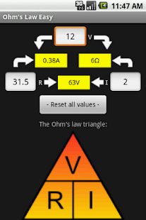 Ohm's Law Easy - screenshot thumbnail