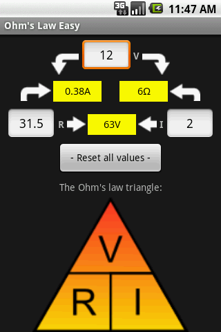 Ohm's Law Easy - screenshot