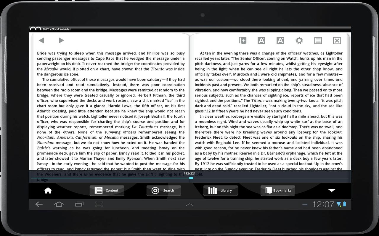 DNL eBook Reader - screenshot