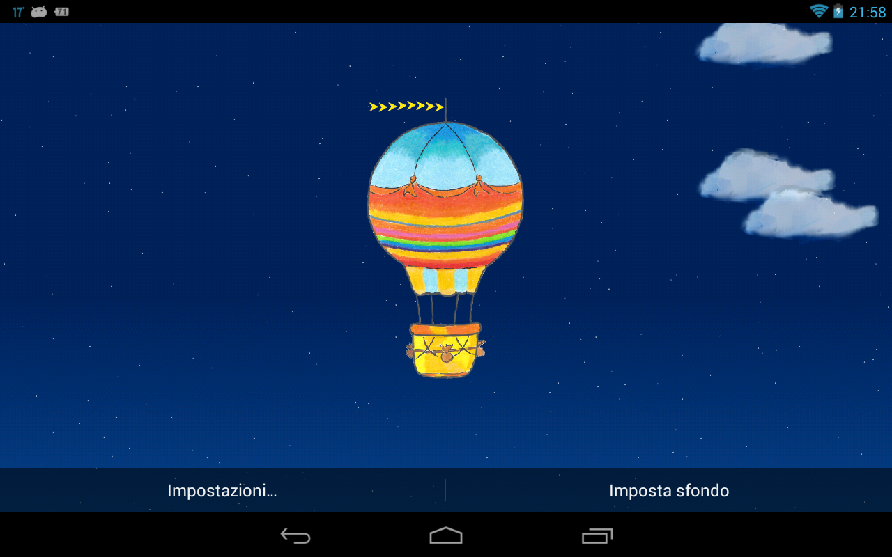 Hot Air Balloon Live Wallpaper- screenshot