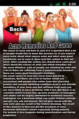 Acne Remedies and Cures