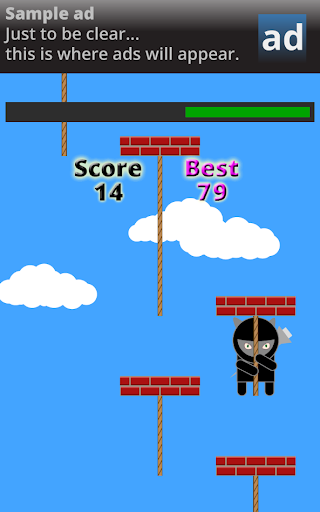 【免費街機App】Ninja Kitty Rope Climb-APP點子