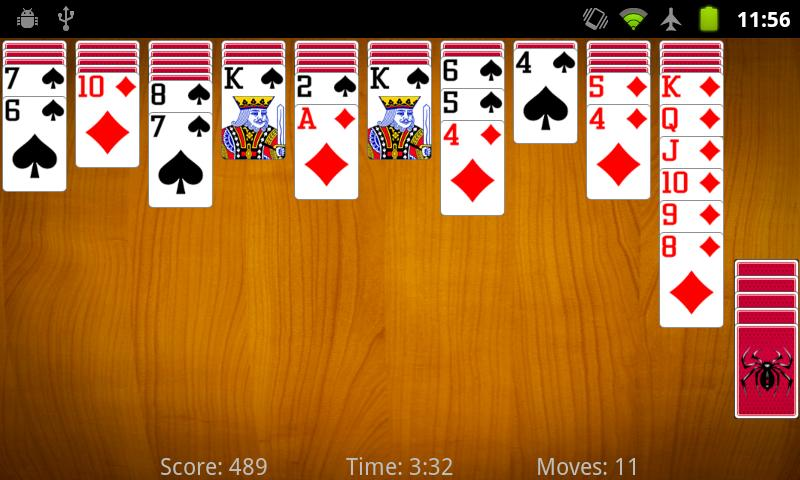 Spider Solitaire - screenshot
