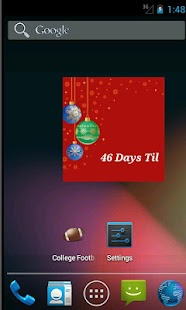 The Christmas Countdown Widget - screenshot thumbnail