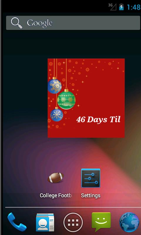 The Christmas Countdown Widget - screenshot
