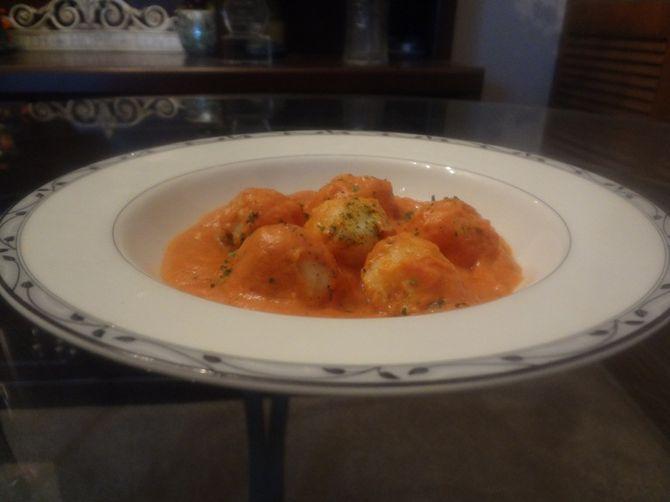 Potato Gnocchi with Tomato Cream Cheese Sauce Recipe