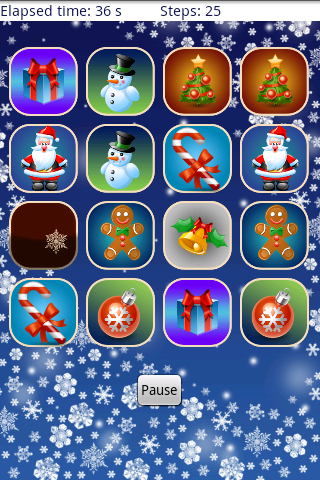 Christmas Memory Game - screenshot