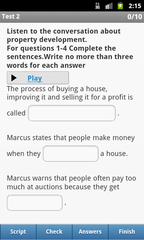 IELTS Listening- screenshot