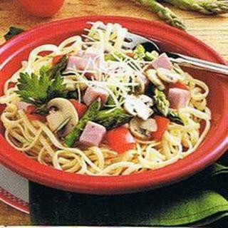 Ham and Asparagus Linguine Recipe
