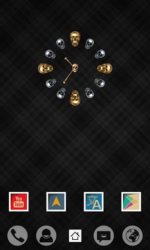 uccw skin skull clock