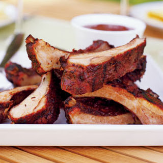 Herb-rubbed Baby Back Ribs.