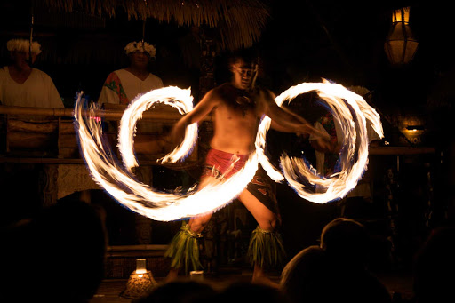 A Polynesian fire dance at Mai-Kai in Fort Lauderdale.